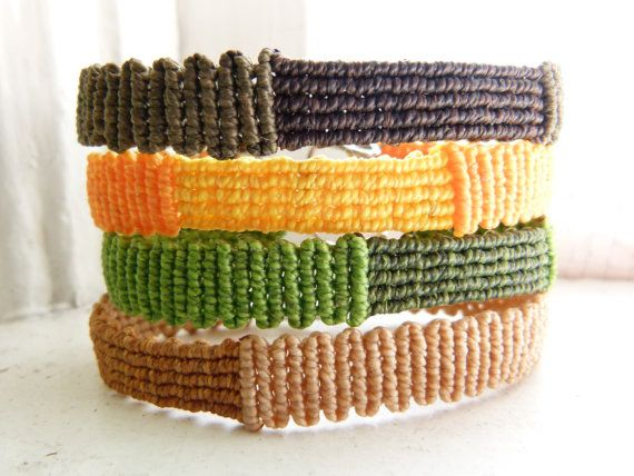 Verde Macrame braccialetto bracciale Unisex sottile di Chaomi