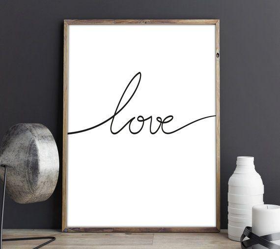 Lamina Decorativa, Lamina Love, Lamina, Lamina Amor, Lamina Nordica, Lamina Frase, Decoracion Infantil, Nordic Deco, Love Poster, Love Quote