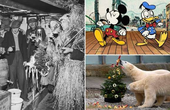 Do you know these 14 fun facts about Christmas? - George Pickow/Getty Images; Disney Channel/Disney Channel via Getty Images; Alexander Koerner/Getty ...