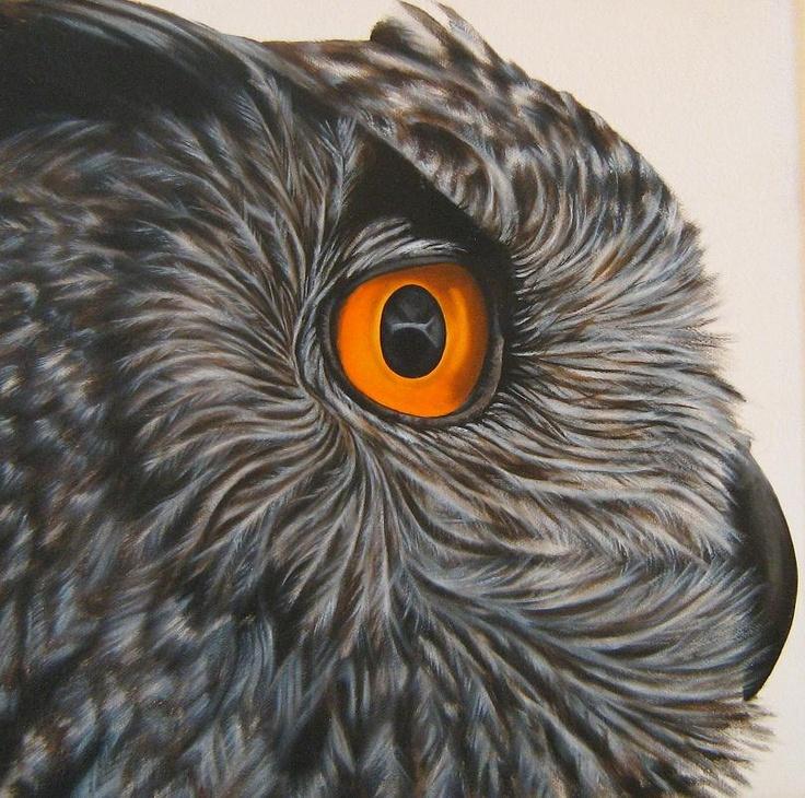 Owl : Oil on Canvas