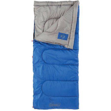 Coleman, The Outdoor Company Boyce 50-Degree Rectangular Sleeping Bag, Blue