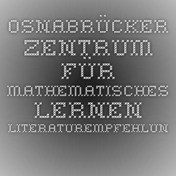 Osnabrücker Zentrum für mathematisches Lernen - Literaturempfehlungen
