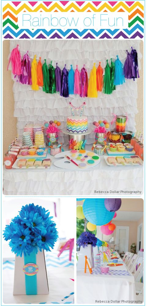 Chevron, Stripes AND a Rainbow Tassle Garland!! Does it get any better than this??