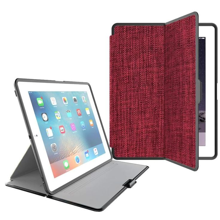 Protective PU + PC Flip Open Case Cover for IPAD 2 / 3 / 4 - Red - Free Shipping - DealExtreme