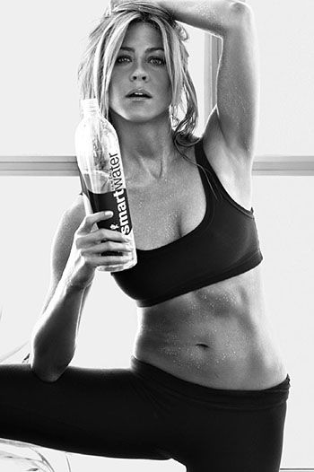 Jennifer Aniston- LOVE her body.  Shes a good role model cause' shes healthy, balanced, and looks normal fit.