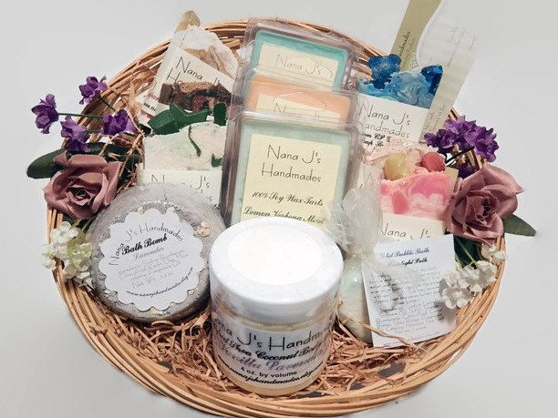 Bath and Body Gift Basket/Soap and Candle Gift Basket/Handmade gift basket/Gift Basket/Spa Gift Basket/Gift Set, Christmas Gift Basket by NanaJsHandmades on Etsy