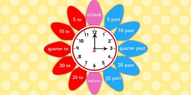 Analogue Clock Flower Labels