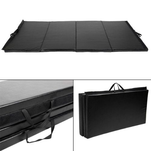 "GHP Black PU 4'X10'X2"" Foldable Gymnastics Exercise Mats w PPE Interior Foam  //Price: $ & FREE Shipping //     #sports #sport #active #fit #football #soccer #basketball #ball #gametime   #fun #game #games #crowd #fans #play #playing #player #field #green #grass #score   #goal #action #kick #throw #pass #win #winning"