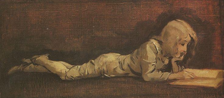 Le Petit Liseur Auguste Baud-Bovy, 1885
