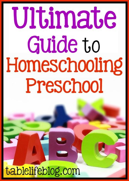 Need help with preschool at home? This Ultimate Guide to Homeschooling Preschool has you covered with all of the information and resources you need!