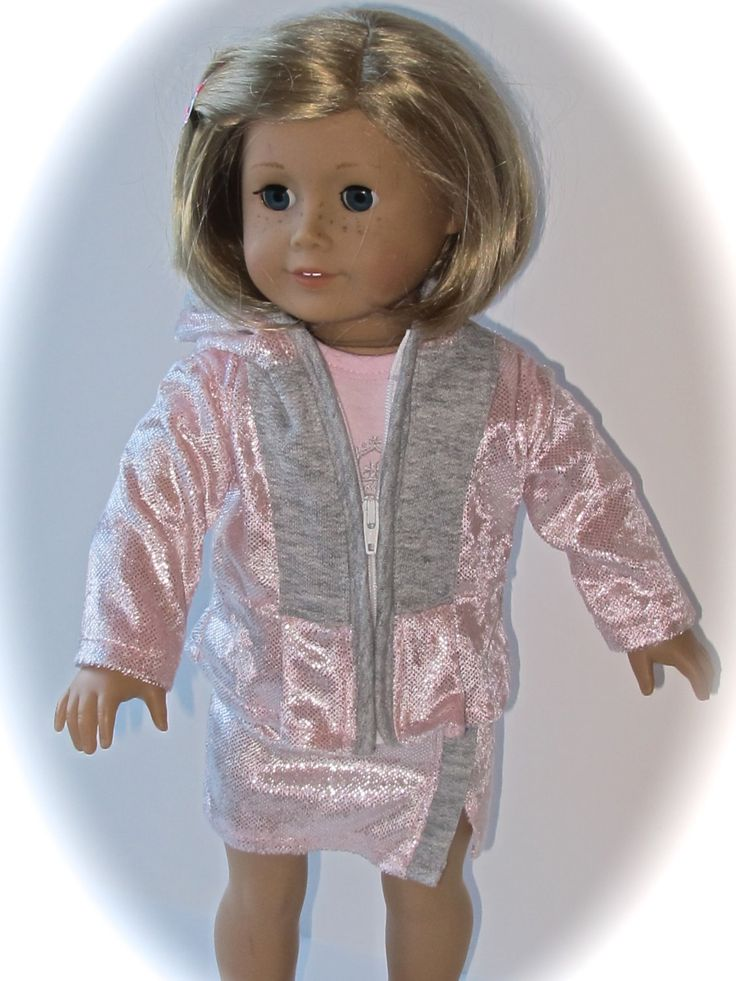 AG OOAK Doll Pink Hooded Jacket With Skirt And Pink Shirt- 3 Pieces - pinned by pin4etsy.com