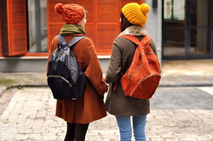 handmade leather backpack- Moria