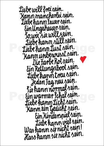 Poster Die Farbe Rot   Poster