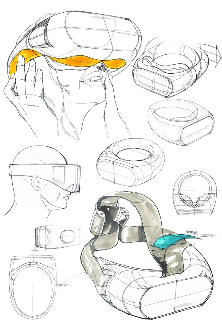 Virtual Reality Head-mounted Display Concept Development Stage.