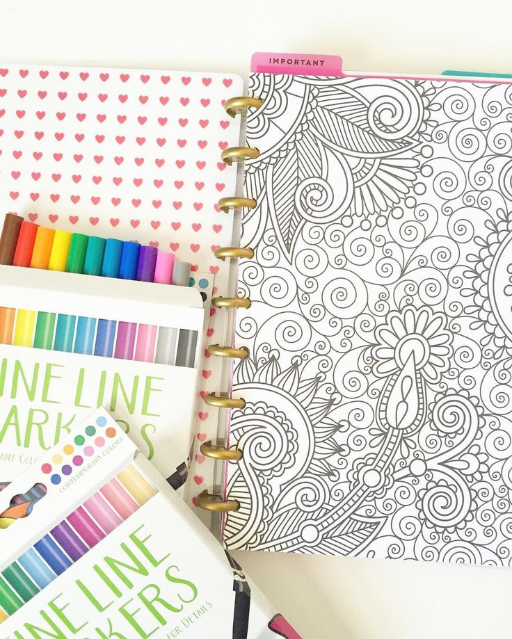 Added coloring pages to my Happy Planner notebook. I'm so loving the versatility of @the_happy_planner Thank you!! Tools usedHappy Planner mini discs Happy Planner dashboards Happy Planner covers and notepages#plancreaterepeat by plancreaterepeat