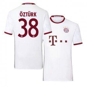 bayern munich third 16 17 season white 38 ozturk soccer jersey i494