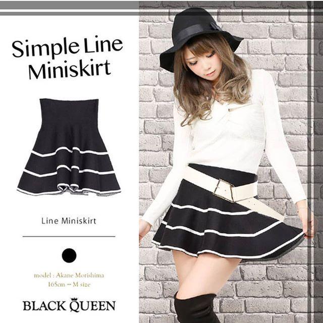. ラインミニスカート . ブラック 3980 . ベルト合わせで おしゃれに可愛く . #blackqueen#ブラッククイーン #love#cute#beautiful#style#code#sexy#dress#onepiece#tops#bottoms#ギャル服#ギャル#コーディネート#デート服#ファッション雑誌#小悪魔ageha#姉ageha #モテ服#お姉系#ファッションモデル#ゆまち#盛島朱音#石上かなえ#キャバ#キャバドレス#韓国ファッション#冬コーデ