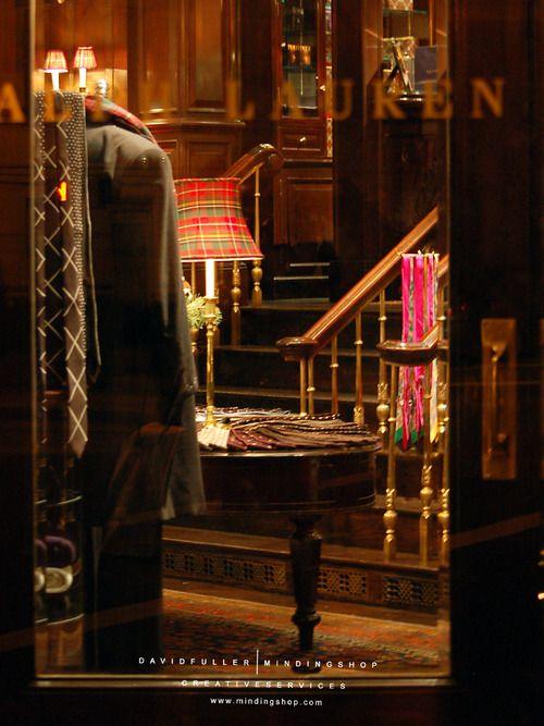 Glimpse into the Ralph Lauren flagship store...