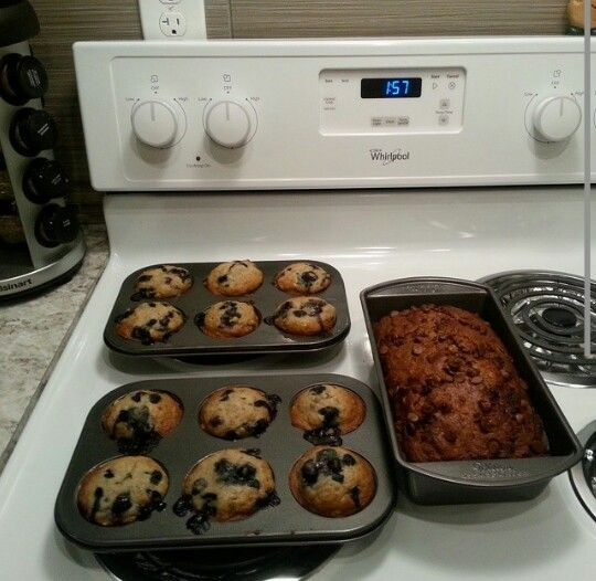 Blueberry banana muffins & banana chocolate chip loaf