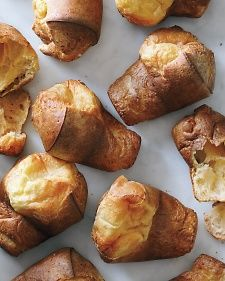 See our step-by-step guide to making popovers, and try all of our popover variations: Gruyere-Thyme Popovers, Dark Chocolate Popovers, Chive Popovers, Cinnamon Sugar Popovers, Bacon and Black Pepper Popovers, and Orange Popovers.