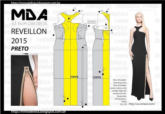 ModelistA: A3 NUMo 0161 DRESS - BLACK REVEILLON