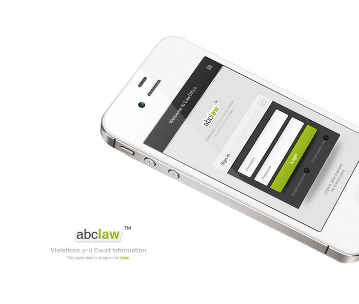 Beautiful iPhone app design