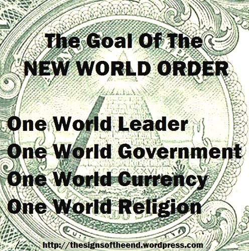 goal of the new world order....if you haven't gotten it...get out of the cave you're living and WAKE UPPPPPPP!!!!