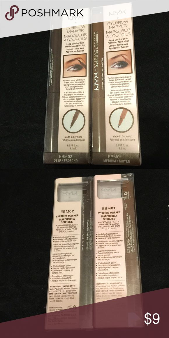 NYX Eyebrow Marker Deep NYX Eyebrow Marker Deep Thin or Thick Natural looking Won't Smear   You can always bundle items to save on shipping!! NYX Makeup Eyebrow Filler