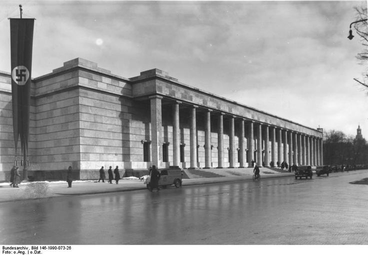 The Haus der Kunst was constructed from 1933 to 1937 following plans of architect Paul Ludwig Troost as the Third Reich's first monumental structure of Nazi architecture and as Nazi propaganda. The museum, then called Haus der Deutschen Kunst, was opened in 18 July 1937 as a showcase for what the Third Reich regarded as Germany's finest art. The inaugural exhibition was the Große Deutsche Kunstausstellung, which was intended as an edifying contrast to the condemned modern art on display in…