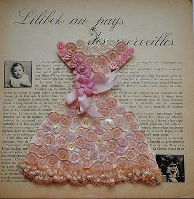Inspiration ... buttons ,,, Dress ... Queen Ana Caldatto : Tempo... Inspiração... Vestido da Rainha