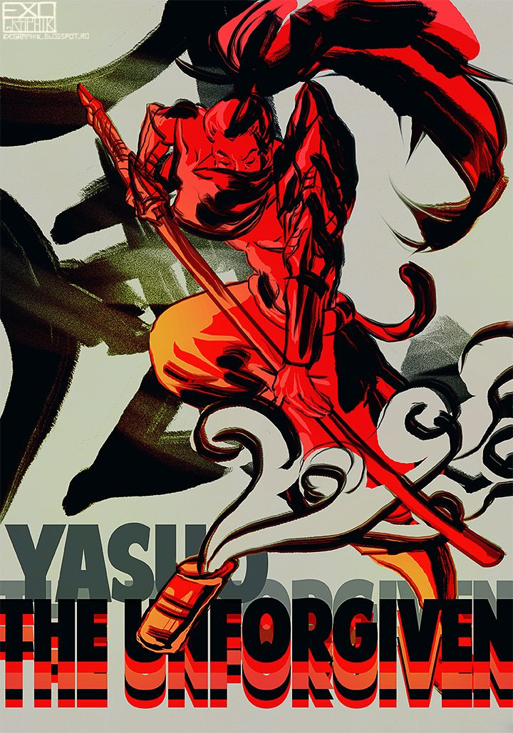Yasuo poster by hyenasmile on deviantART