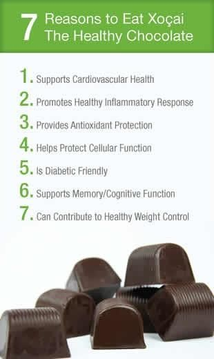 7 Reasons why you would want to eat Xocai Healthy Chocolate