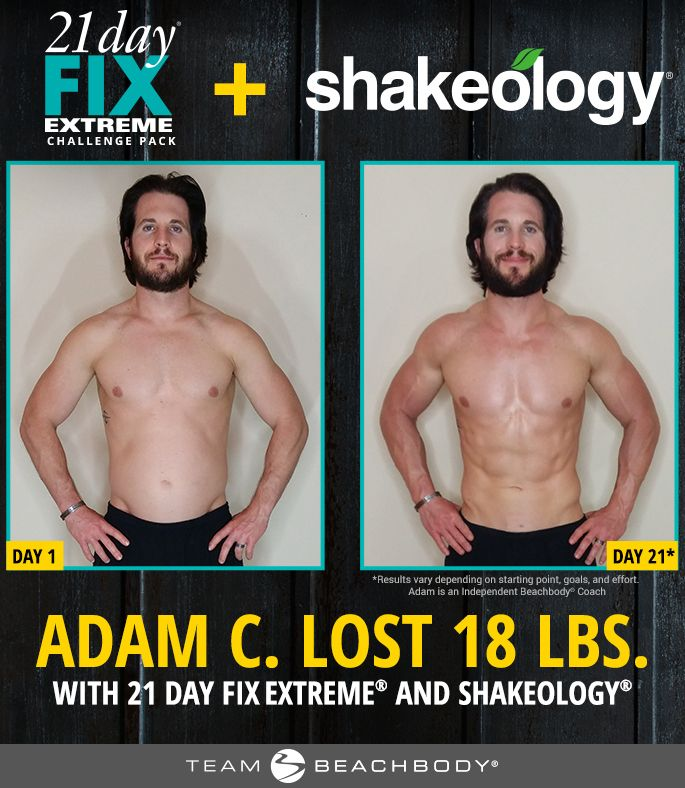 Shakeology review/21 Day Fix Extreme results - Adam lost 18 pounds and got leaner in only 21 days by combining both 21 Day Fix Extreme and Shakeology! http://www.onesteptoweightloss.com/21-day-fix-vs-21-day-fix-extreme #15LBWeightLoss