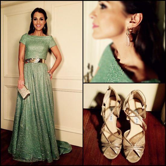 Tras la pista de Paula Echevarría » Noche de gala Vestido glitter verde