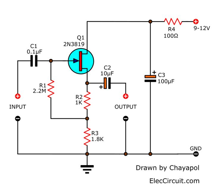 Try simple FET Preamplifier circuit (Very high impedance
