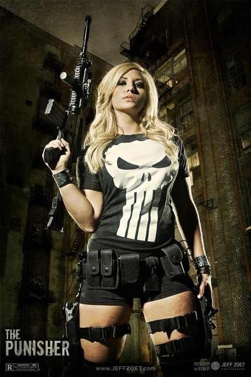Female Punisher Cosplay  https://www.facebook.com/pages/The-Nerd-Rave/113442648801172