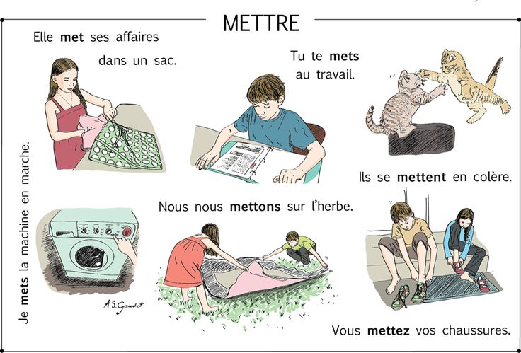 mettre uses and expressions with reflexives