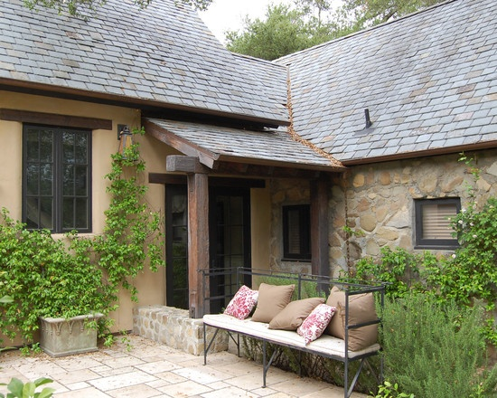 Mediterranean Spaces Dog-ear Slate Roof Design, Pictures, Remodel, Decor and Ideas