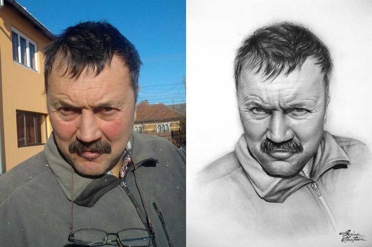 Desen după Imagine 20 - Desen în Creion de Corina Olosutean // Drawing from Picture 20 - Pencil Drawing by Corina Olosutean