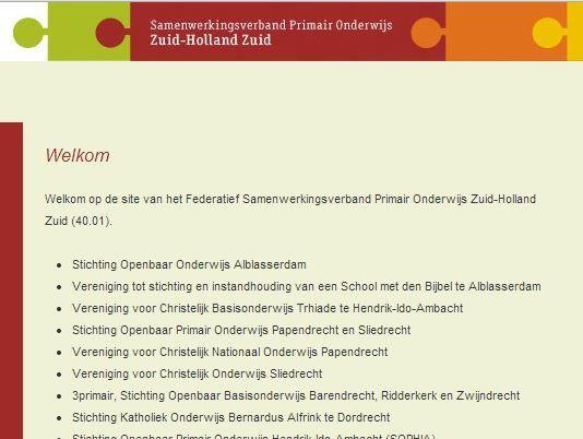 Samenwerkingsverband Primair Onderwijs Zuid-Holland-Zuid