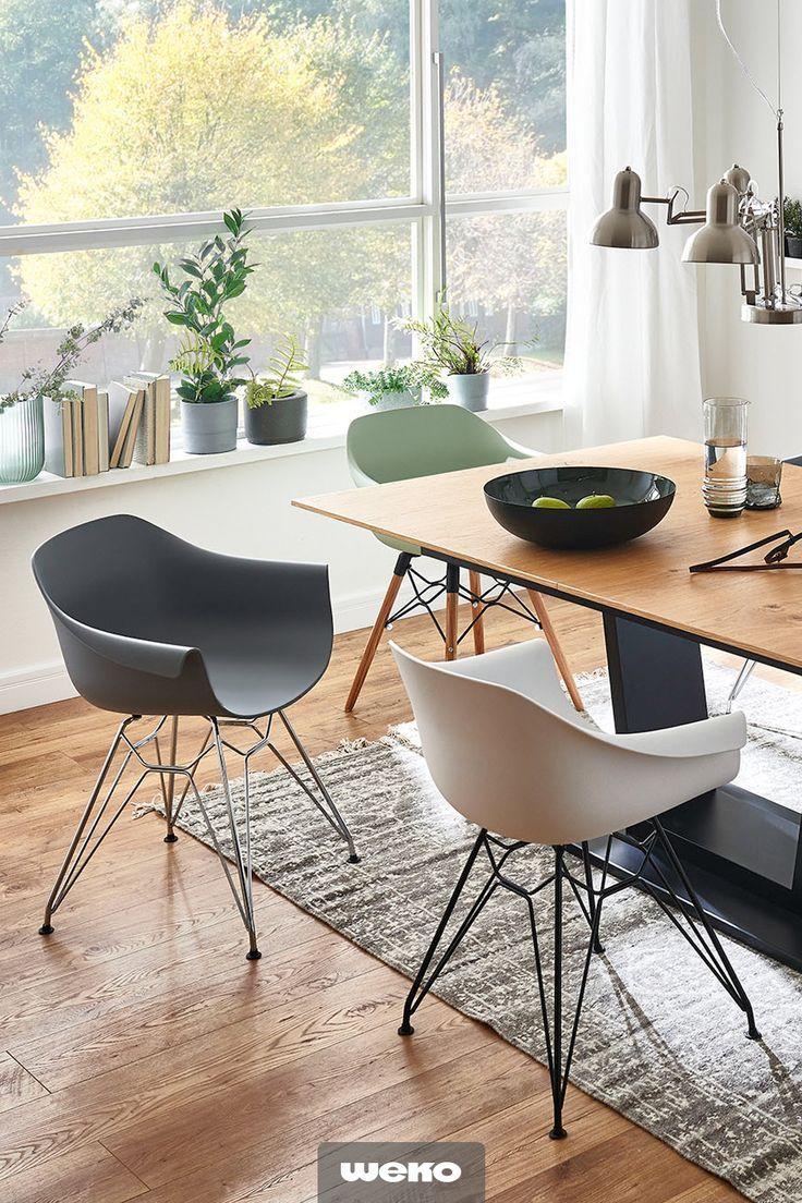 Esszimmer Speisezimmer Esstisch Stuhl Schalenstuhl Grau Weiss Grun Blau Modern Design Stuhle Esszimmer Kuchentisch Und Stuhle Wohn Esszimmer