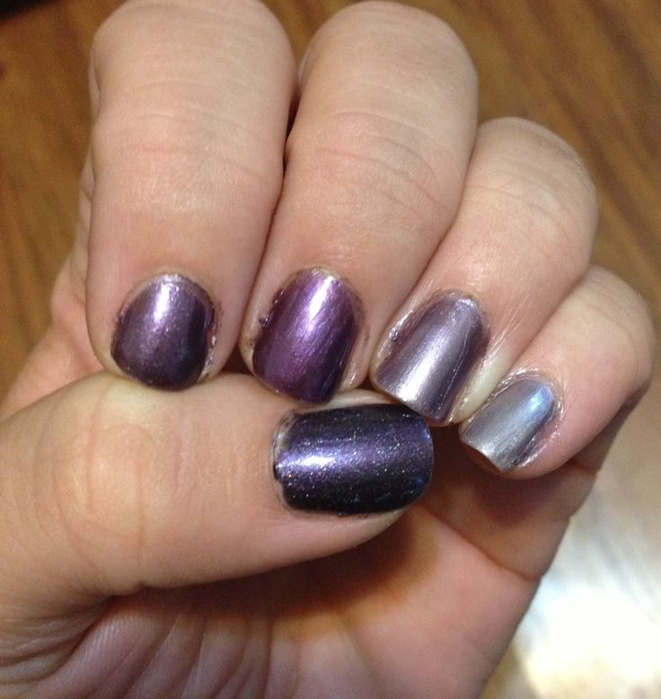 The Violets ombré nails All shades by Vapid Lacquer and available on etsy
