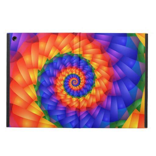 Beautiful Rainbow Spiral iPad Air Case by KittyBitty