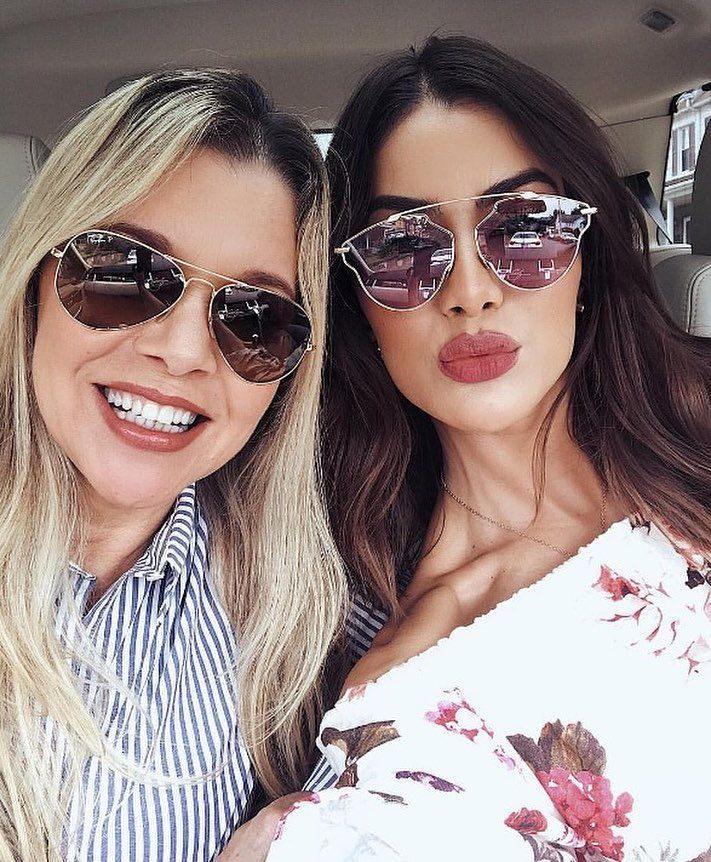 6b8c0f3255a  camilacoelho 😍 Óculos Ray-Ban Aviador   Dior So Real Pop 💋  envyo…