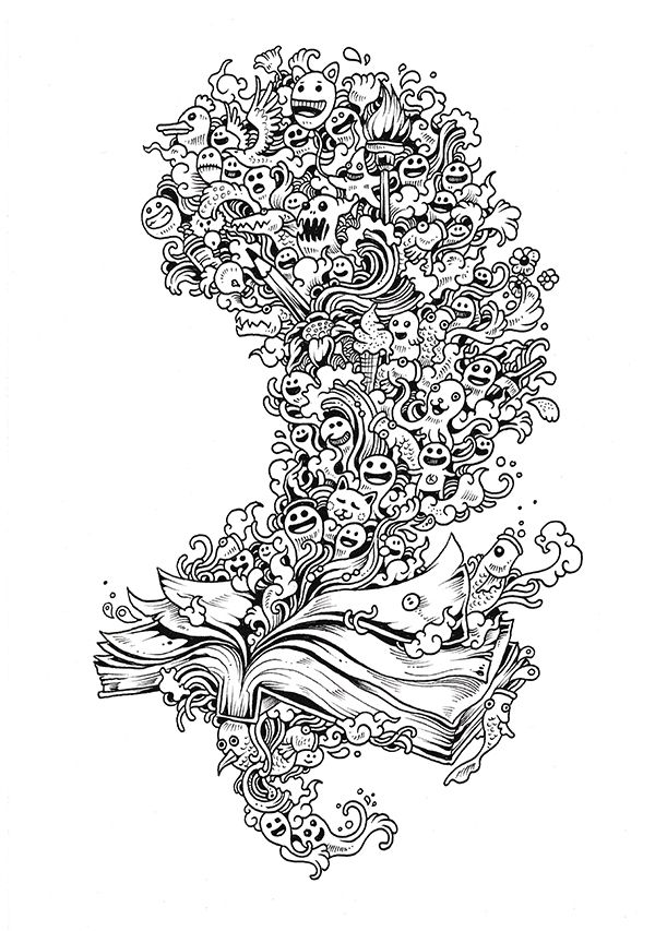 Doodle Invasion Coloring Book (part I) by Kerby Rosanes facebook l dA l instagram l shop l behance l tumblr