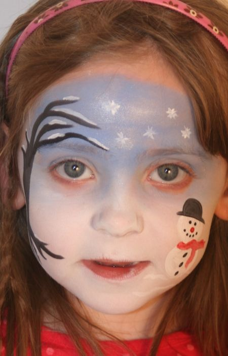 Christmas face painting from Northern Ireland