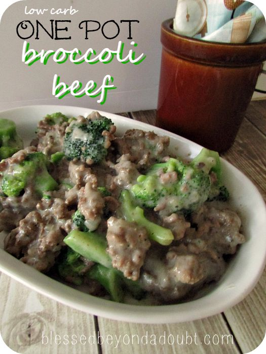 Low carb beef broccoli recipe! Quick and delicious one pot meal.