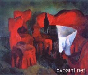 Красная мебель.Фальк, Роберт Рафаилович