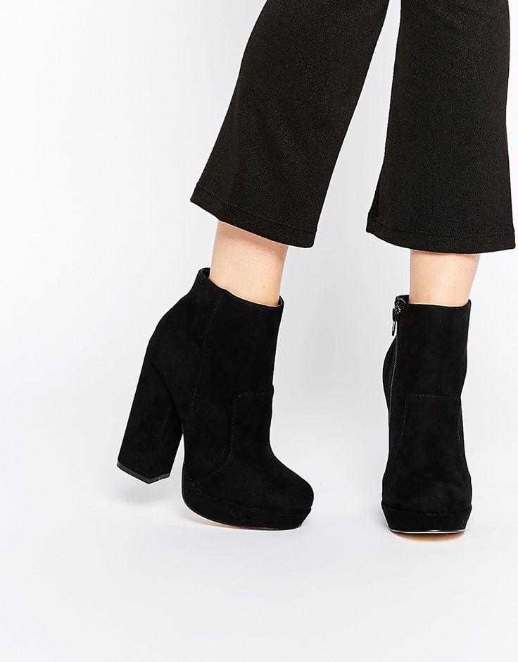 $54 New Look Platform Block Heel Ankle Boot