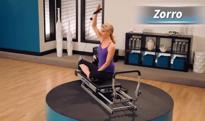 "Work your arms and your core with the ""Zorro"" exercise on the Pilates Power Gym - ‪Pilates Reformer,‬ ‪‎Pilates At Home‬"